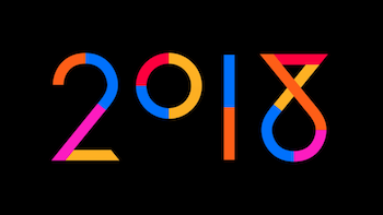 Très bien Animated new year card 2018 - Philippe Apeloig &VB_12